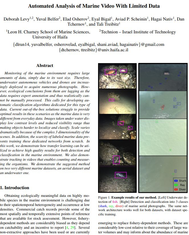 Morris Kahn Marine Reseach Station - Published! Automated Analysis